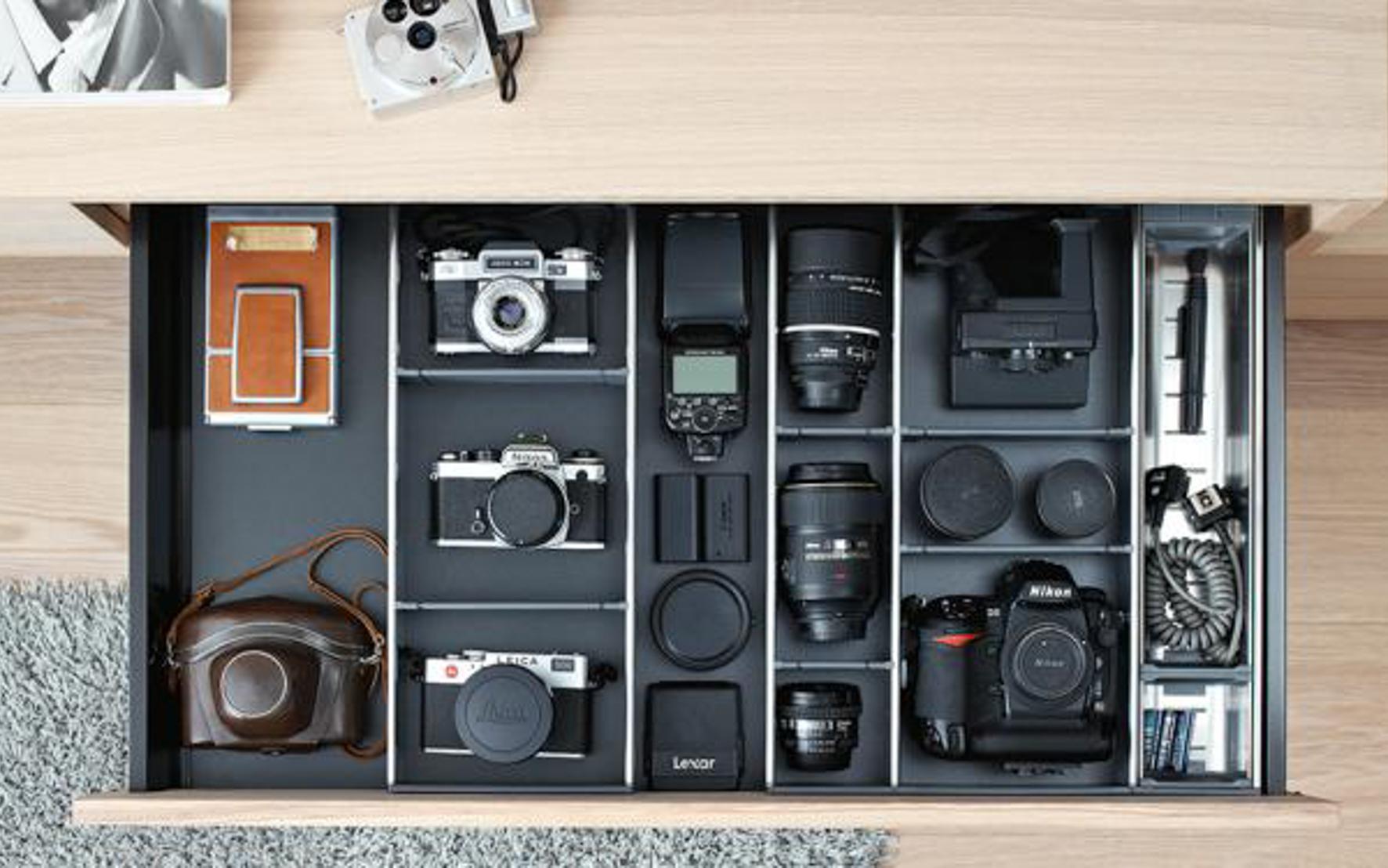 OrgaNiced Lade-indelingen Hobbykamer Fotografie