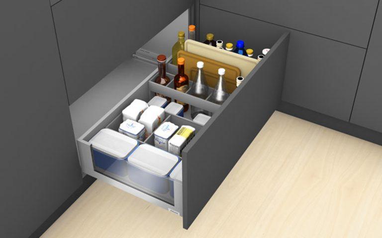 OrgaNiced Lade-indelingen voorraad flessen